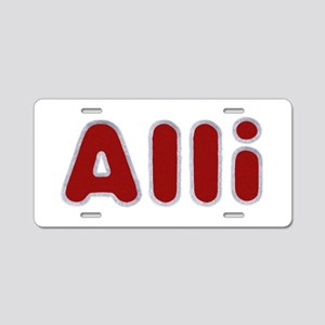Alli Santa Fur Aluminum License Plate