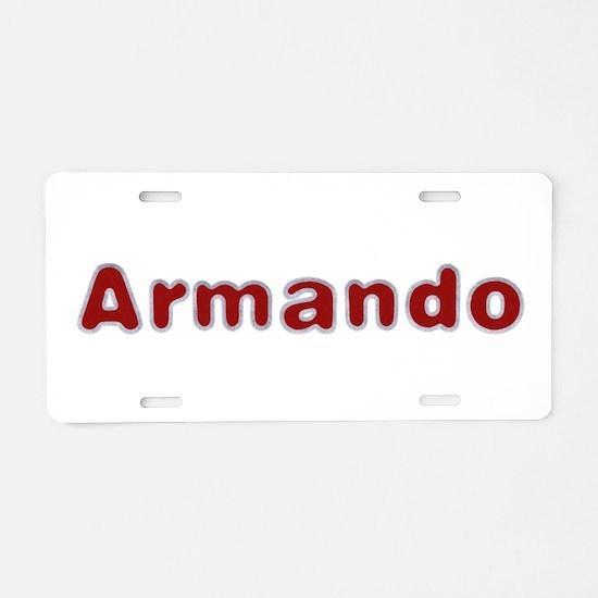 Armando Santa Fur Aluminum License Plate
