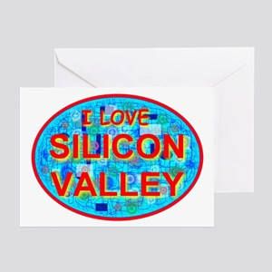 I Love Silicon Valley Greeting Cards (Pk of 10