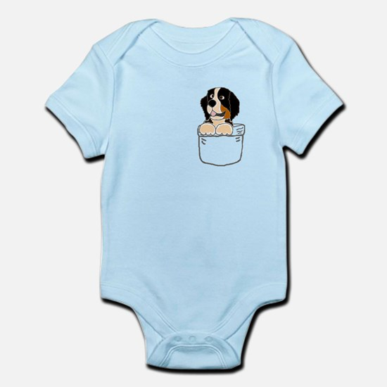 Bernese Mountain Dog in a Pocket Body Suit