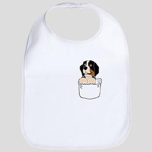 Bernese Mountain Dog in a Pocket Baby Bib