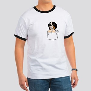 Bernese Mountain Dog in a Pocket T-Shirt