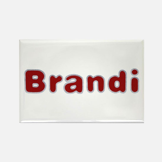 Brandi Santa Fur Rectangle Magnet