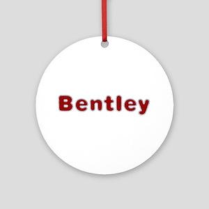Bentley Santa Fur Round Ornament