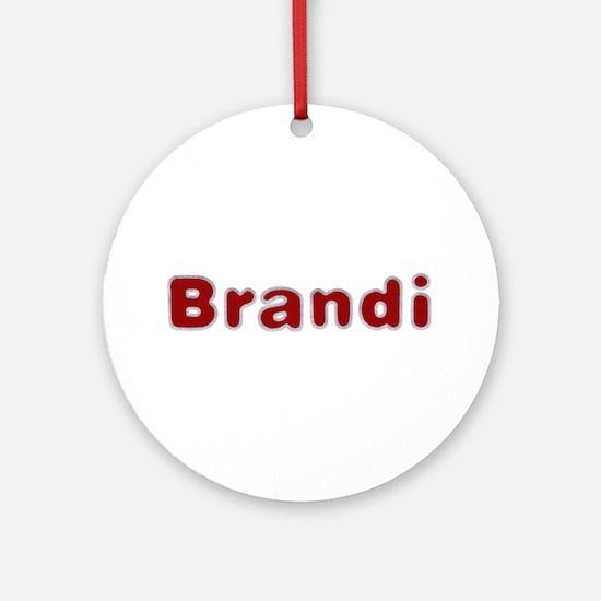 Brandi Santa Fur Round Ornament