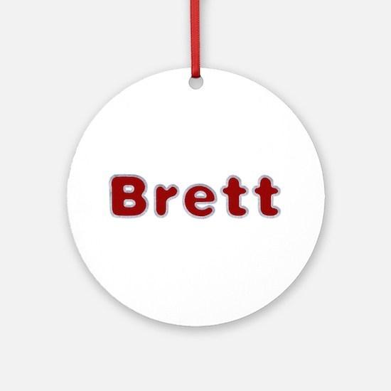 Brett Santa Fur Round Ornament