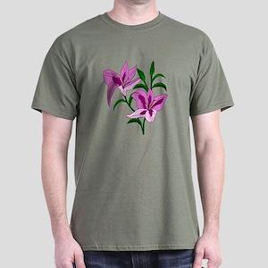 Pink Lilies Dark T-Shirt