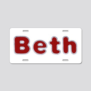 Beth Santa Fur Aluminum License Plate