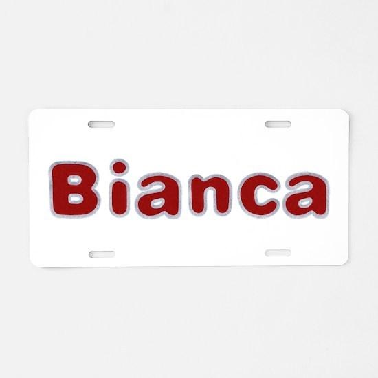 Bianca Santa Fur Aluminum License Plate