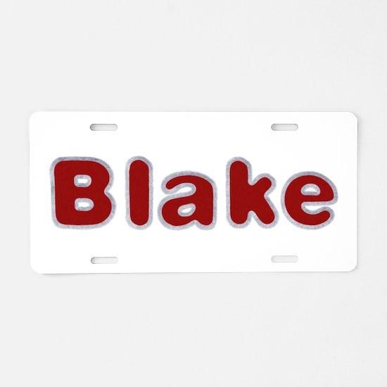 Blake Santa Fur Aluminum License Plate