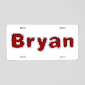 Bryan Santa Fur Aluminum License Plate