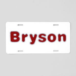 Bryson Santa Fur Aluminum License Plate