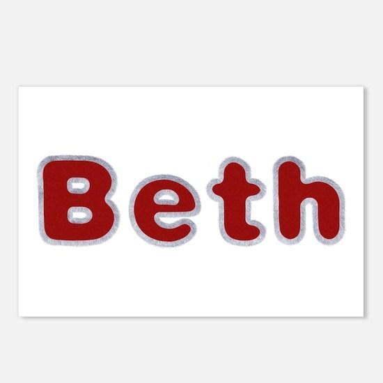 Beth Santa Fur Postcards 8 Pack