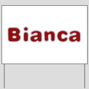 Bianca Santa Fur Yard Sign
