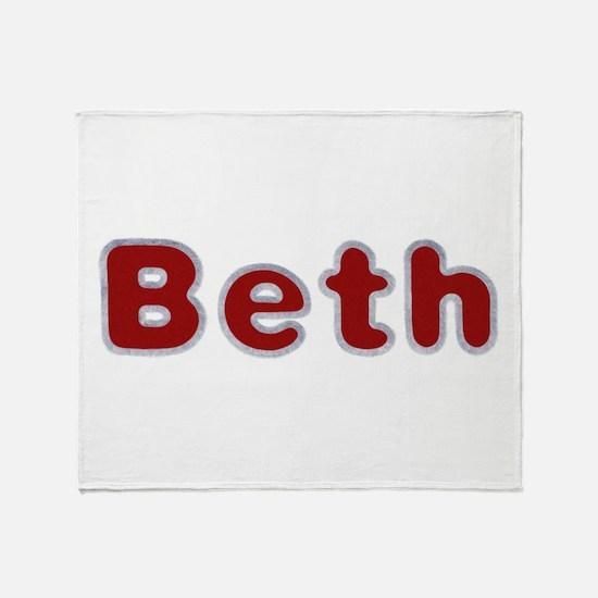 Beth Santa Fur Throw Blanket