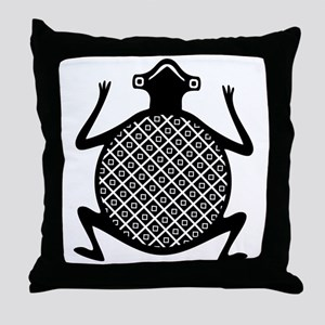 AbOriginalzc Mimbres Toad Throw Pillow
