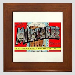Milwaukee Wisconsin Greetings Framed Tile