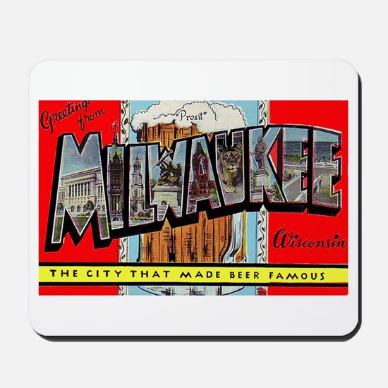 Milwaukee Wisconsin Greetings Mousepad