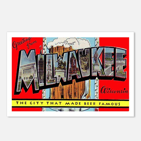 Milwaukee Wisconsin Greetings Postcards (Package o