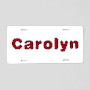 Carolyn Santa Fur Aluminum License Plate