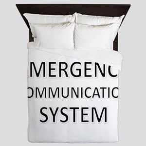 Emergency Communication System - Black Queen Duvet