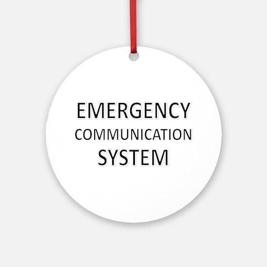 Emergency Communication System - Black Ornament (R