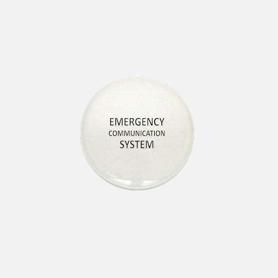 Emergency Communication System - Black Mini Button