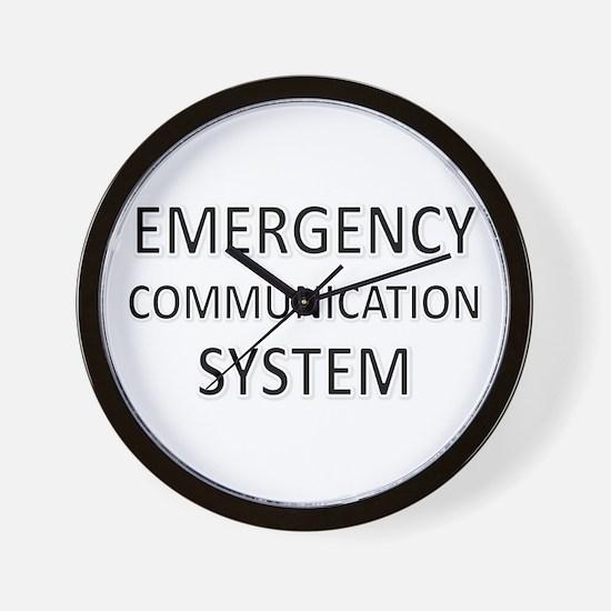 Emergency Communication System - Black Wall Clock