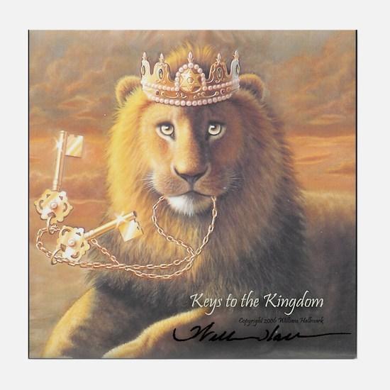 """Keys to the Kingdom"" Fine Art Tile Coaster"