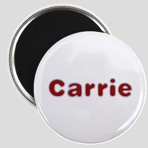 Carrie Santa Fur Round Magnet
