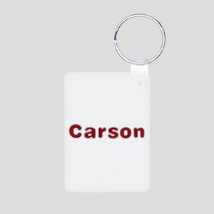 Carson Santa Fur Aluminum Keychain