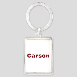 Carson Santa Fur Portrait Keychain