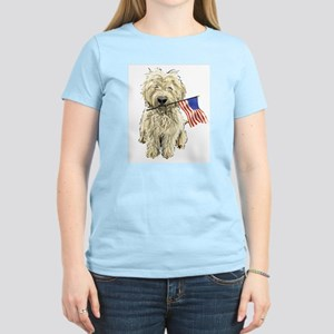 4th of July Doodle Women's Pink T-Shirt