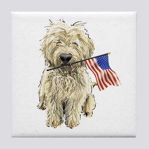 4th of July Doodle Tile Coaster