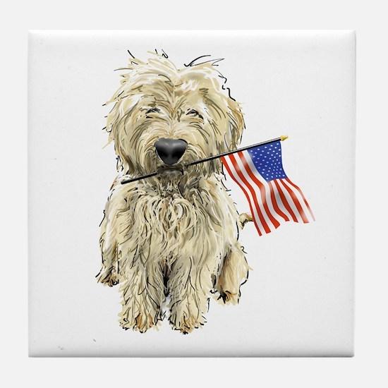 4th of July Doodle Tile Coaster