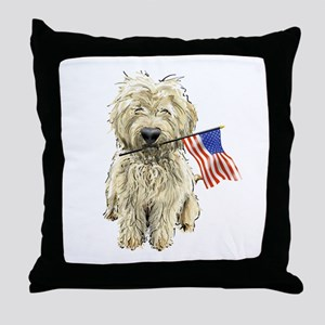 4th of July Doodle Throw Pillow