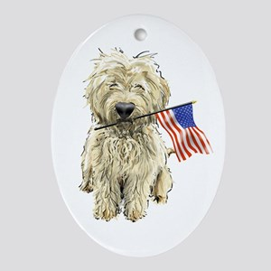 4th of July Doodle Oval Ornament