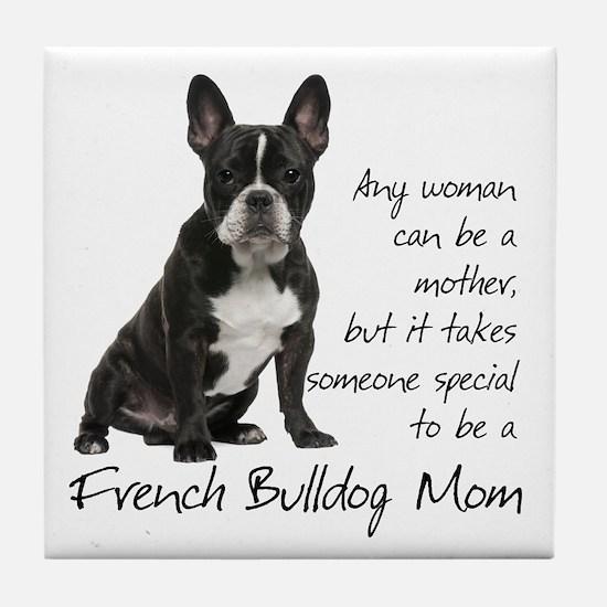 Frenchie Mom Tile Coaster