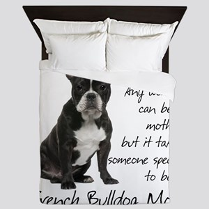 Frenchie Mom Queen Duvet