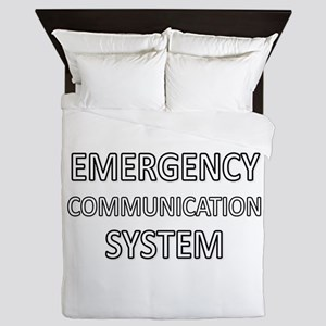 Emergency Communication System - White Queen Duvet