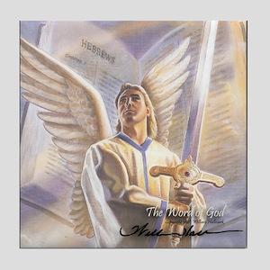 """The Word of God"" Fine Art Tile Coaster"
