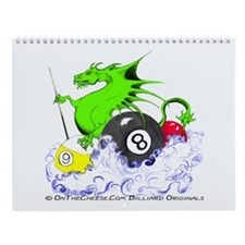 Pool Dragon Billiards Wall Calendar