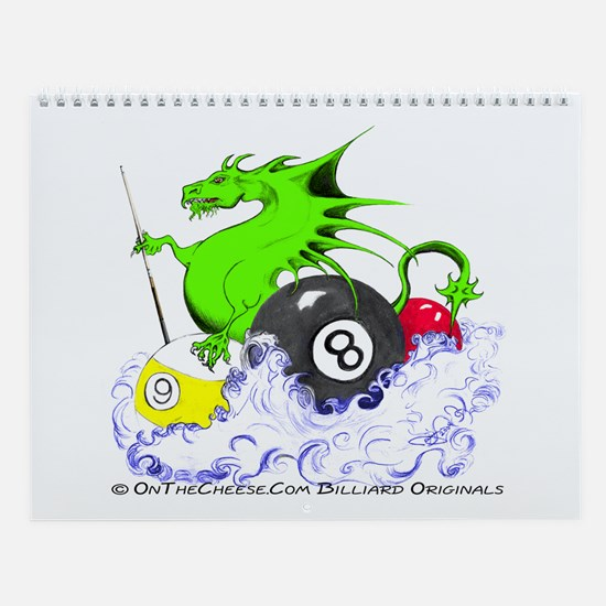 Pool Dragon Billiards Wall Calendar