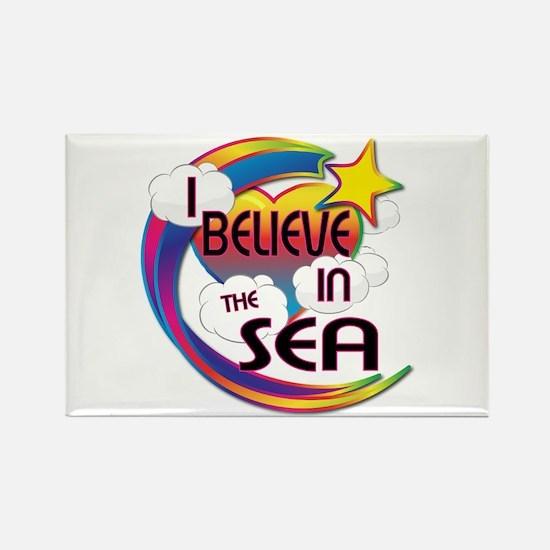 I Believe In The Sea Cute Believer Design Rectangl