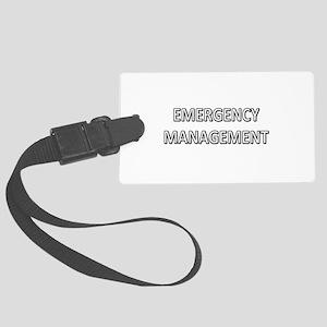 Emergency Management - White Large Luggage Tag