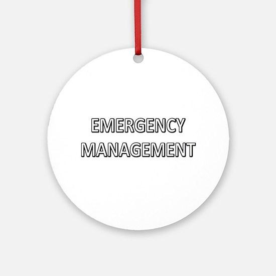 Emergency Management - White Ornament (Round)