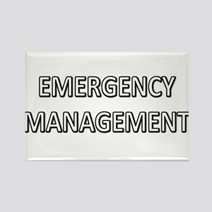 Emergency Management - White Rectangle Magnet