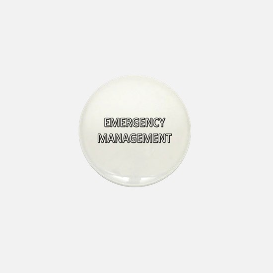 Emergency Management - White Mini Button
