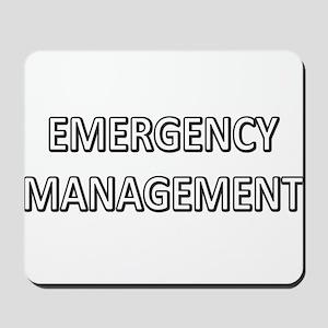Emergency Management - White Mousepad