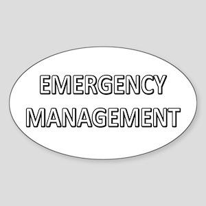 Emergency Management - White Sticker (Oval)